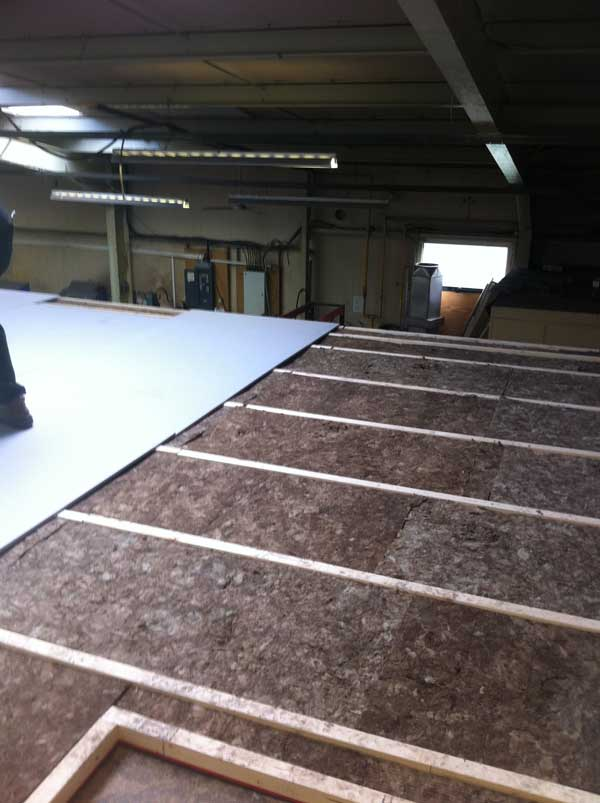 Stage 4 - Installing the soundproofed acoustic floor
