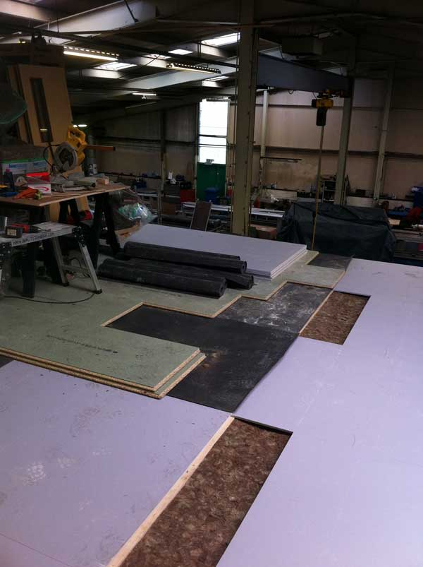 Stage 5 - Build up of acoustic floor