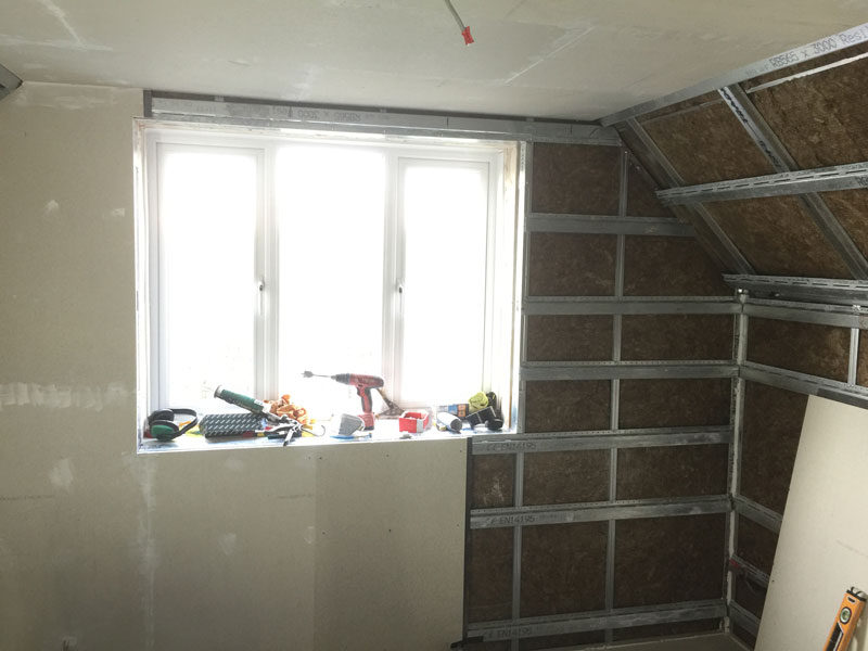 Stage 3 - Maxi soundproofing system being fitted