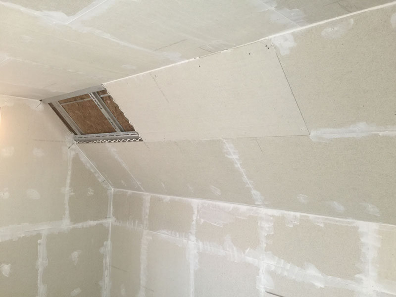 Stage 6 - The last piece of soundproofing panel