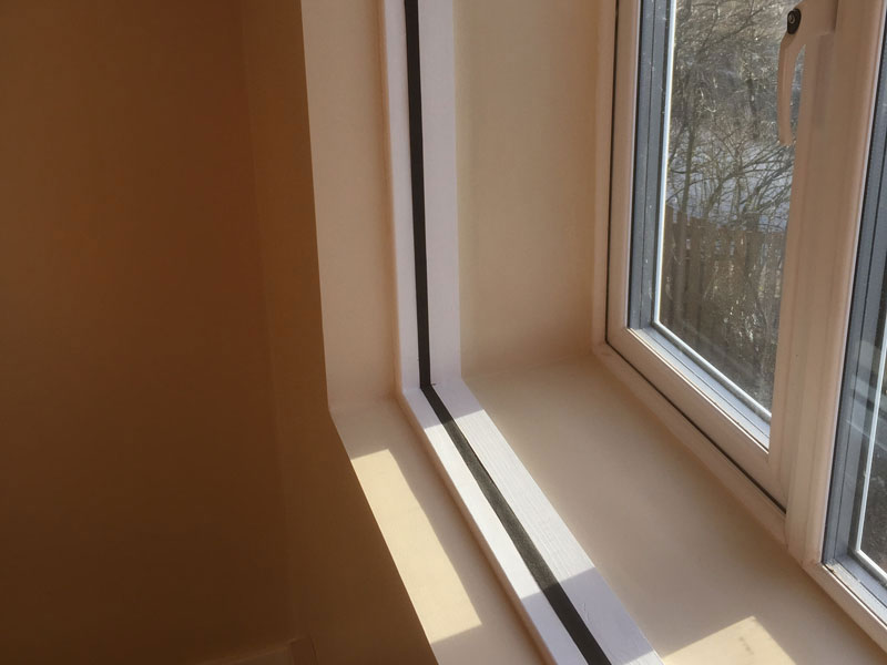 Stage 8 - Acoustic detail at window joint