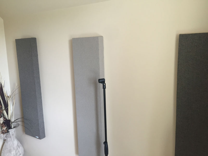 Stage 6 - Soundproofed home recording studio with wall panels