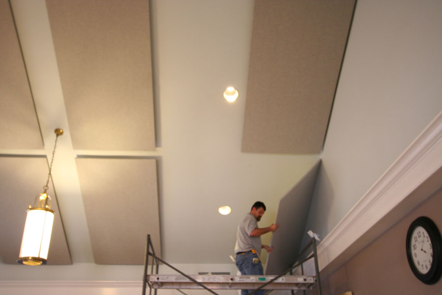Stage 7 - Installing acoustic panels