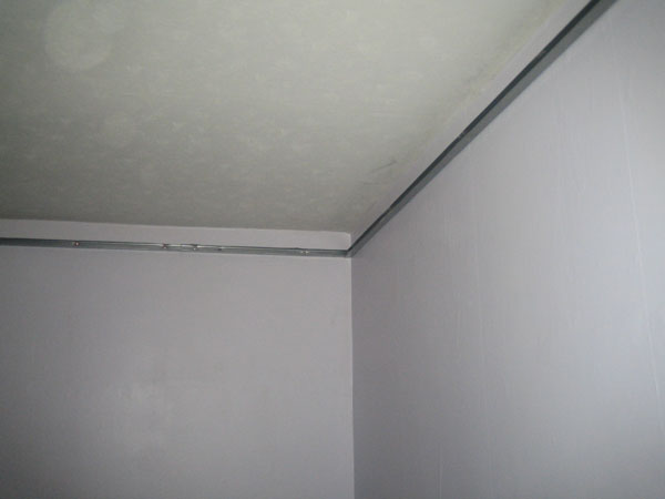 Stage 1: Ceiling perimeter installed