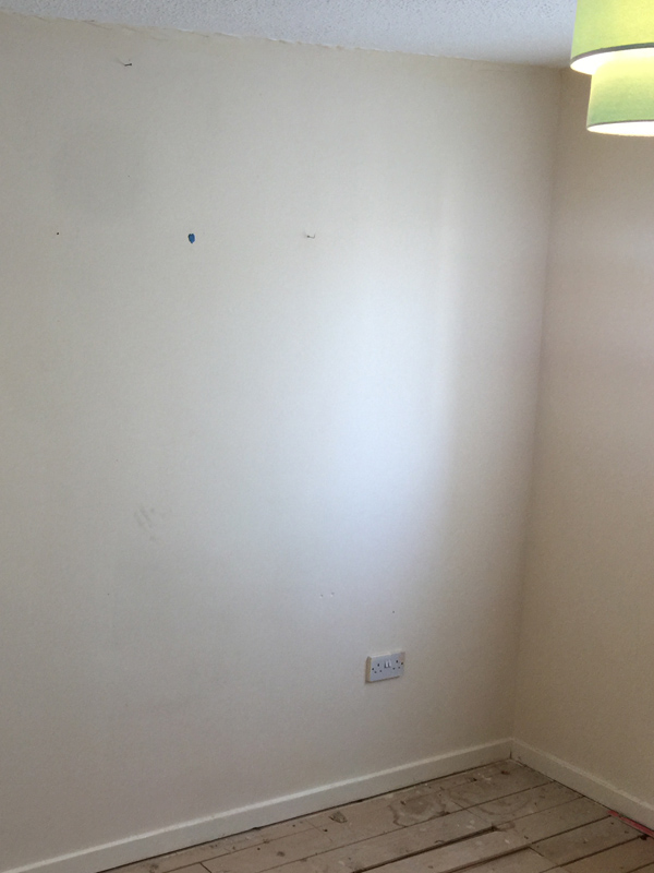 Stage 1 - The offending wall