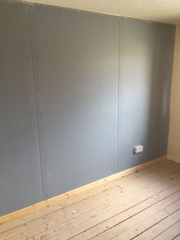 Stage 14 - Acoustic wall system complete with isolated skirting
