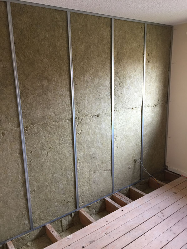 Stage 4 - Acoustic insulation installed