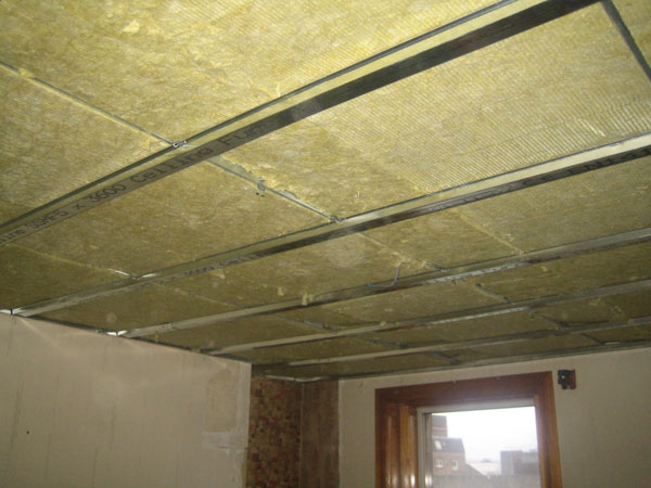 Stage 5: Acoustic insulation installed